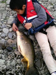 長男が釣りました